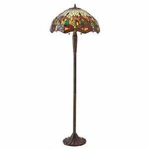 interiors 1900 green dragonfly large 2 light tiffany style With large tiffany style floor lamp