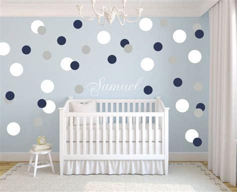 Kinderzimmer Tapeten Jungen by Boys Nursery Polka Dots Decal Name Personalization Circle