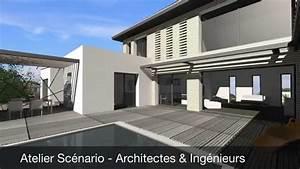 maison contemporaine mix toit terrasse et tuiles toulouse With couvrir une terrasse avec des tuiles