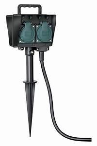 Strom Im Garten : brennenstuhl stromverteiler garten steckdose 4fach erdspie 1 4m au en bei ~ Frokenaadalensverden.com Haus und Dekorationen