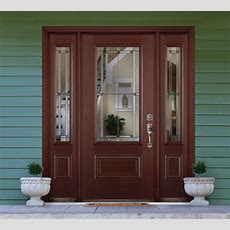 Traditional Styled Home Entryway Featuring Masonite
