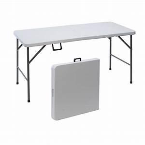 table de jardin pliante en plastique 152 cm maison futee With wonderful desserte de jardin en plastique 3 table de jardin pliante