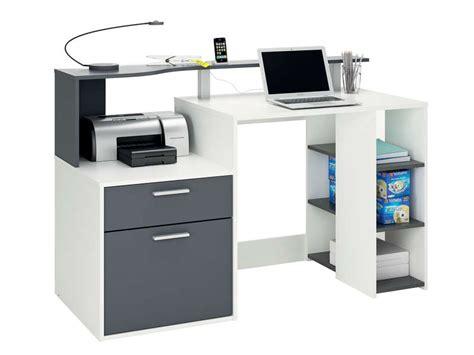jeux de au bureau bureau 140 cm oracle coloris blanc et gris vente de bureau conforama