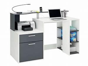 Bureau 140 Cm : bureau 140 cm oracle coloris blanc et gris vente de ~ Teatrodelosmanantiales.com Idées de Décoration