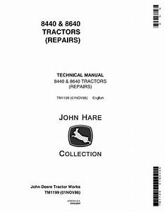 John Deere 8440  8460 4wd Articulated Tractors Diagnostic
