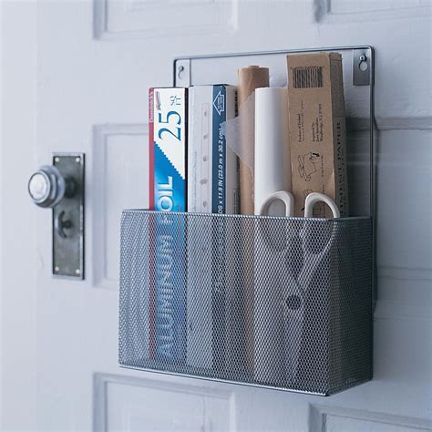 Design Ideas   Silver Mesh Pantry Caddy   Kitchen Storage