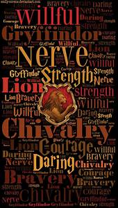 HD Gryffindor Traits Phone Wallpaper by emily-corene on ...