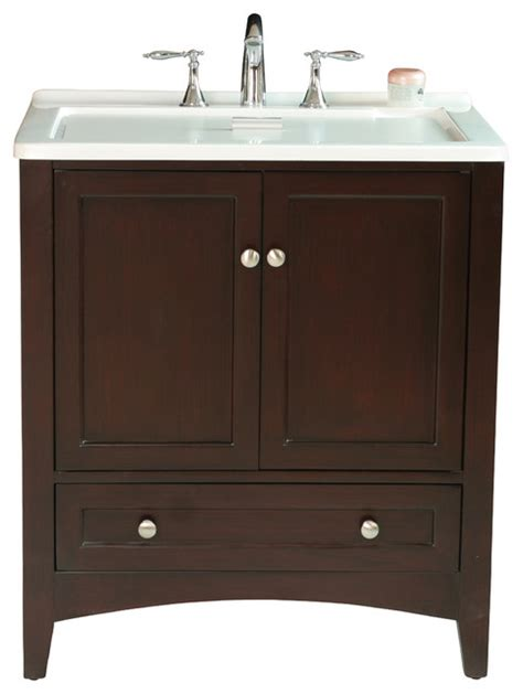 utility sink vanity 30 5 quot espresso laundry single sink vanity contemporary