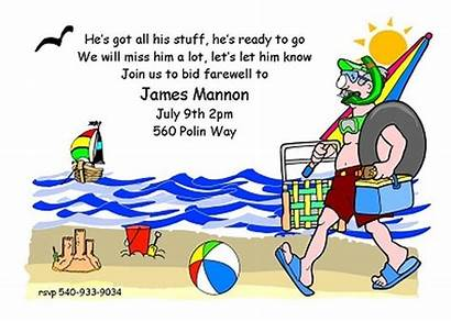 Retirement Away Going Funny Party Invitations Invitation