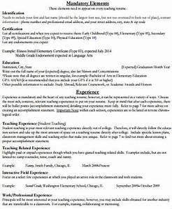 Resume For Elementary Teachers Sample Elementary Teacher Resume 10 Examples In Word Pdf