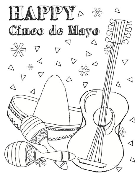 cinco de mayo colors free printable cinco de mayo coloring pages for