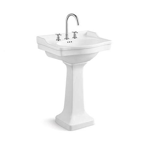 pedestal sink with built in backsplash 43 best images about bathroom on pinterest kingston