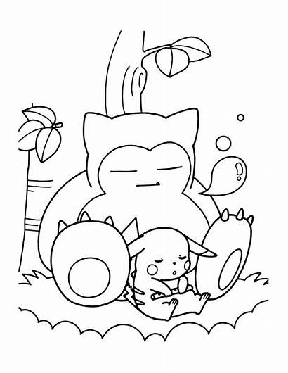 Pokemon Coloring Pages Snorlax Cat Itl