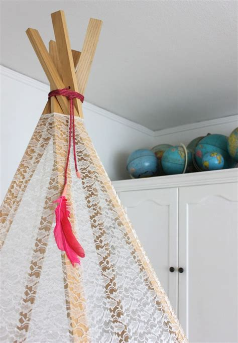 Tie Up Shade Curtain by Make Your Own Play Teepee A Beautiful Mess