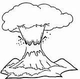 Eruption Volcano sketch template