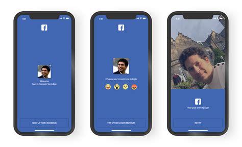 Facehook Mobile by Mobile App Login Design Track Mobile App