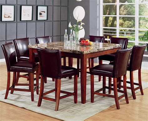 cherry wood pub table set telegraph warm cherry wood and marble pub table set