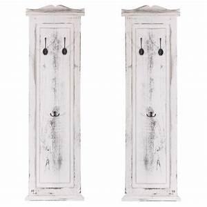 Garderobe Vintage Weiß : 2x garderobe wandgarderobe garderobenpaneel wandhaken 109x28x3 5cm shabby look vintage wei ~ Sanjose-hotels-ca.com Haus und Dekorationen