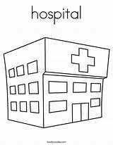 Hospital Coloring Pages Twistynoodle Apartment Doll Paper Ambulance Printable Outline Doctor Wall Nurse Built California Usa Emergency Noodle Getcoloringpages Twisty sketch template