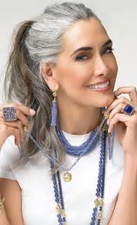 Long Hairstyles Older Women Gray Hair