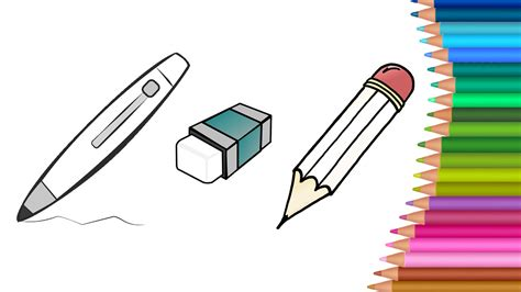 draw stationery  pencil colouring book  kids