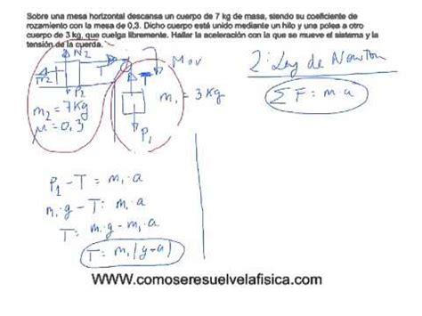 Ejercicio Resuelto Calcular Tensión En La Cuerda Y