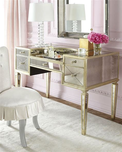 Vanity And Desk by New Amelie Antique Mirrored Vanity Makeup Table Desk