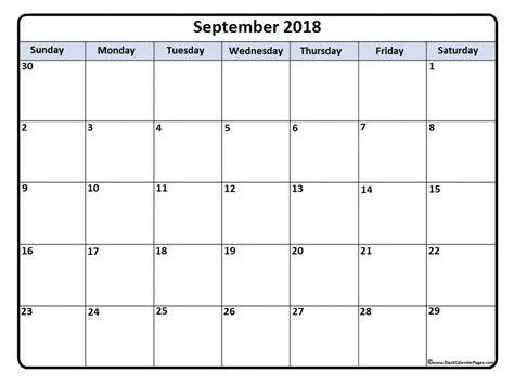 september  calendar  templates   printable