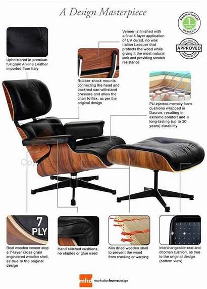 Chair Eames Lounge Furniture Ottoman Chairs Replica