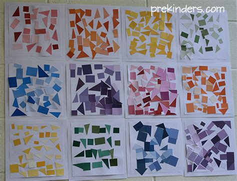 collage ideas for preschoolers prekinders 629 | paint chip collage