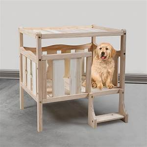 Nufazes, Wooden, Dog, Bed, Frame, Pet, Bed, Furniture, Elevated, Bed, Puppy, House, Indoor, Use, New