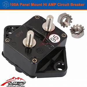 100a Amp Circuit Breaker Panel Mount Manual Reset Ip67 W