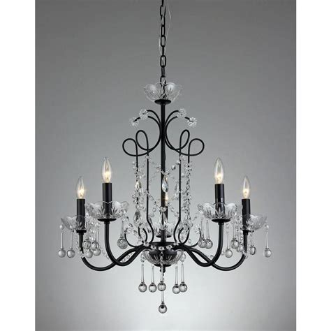 Black Chandeliers by 10 Light Empress Chandelier T40 134 The Home Depot