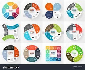 Vector Circle Arrows Stripe Infographics Set Stock Vector 249000136