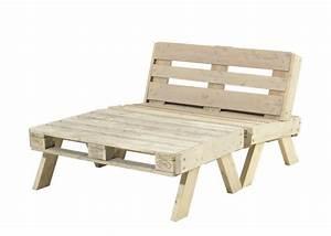 Canape De Jardin En Bois : salon de jardin en palette canap grande table basse en bois ~ Dallasstarsshop.com Idées de Décoration