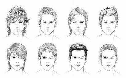 Hair Boy Drawing Draw Hairstyles Male Drawings