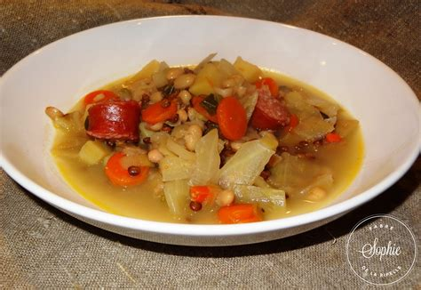 cuisiner les lentilles vertes soupe paysanne aux diots de savoie la tendresse en cuisine