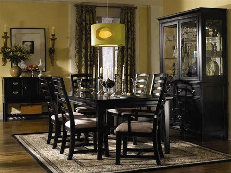 black finish contemporary dining room wshiny silver hardware