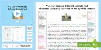 year  letter writing informal modelexample text