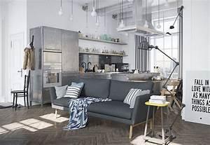 Lampadaire Salon Industriel : k skandinav ev dekorasyonu pembedekor ~ Teatrodelosmanantiales.com Idées de Décoration