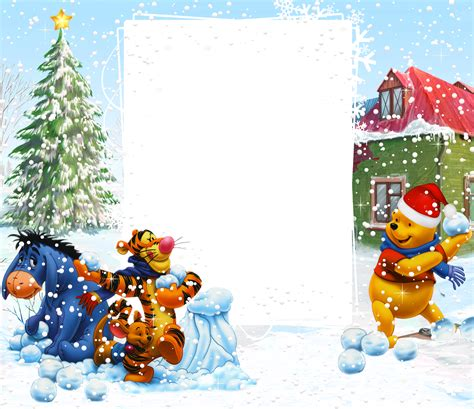 winnie  pooh winter holiday png kids frame gallery