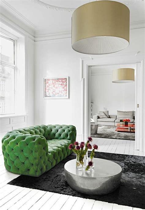 canapé de couleur le canapé capitonné en 40 photos pleines d 39 idées