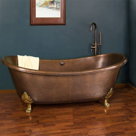 copper claw foot tub 70 quot thaine copper slipper tub polished interior