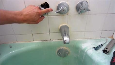 repair leaky shower faucet youtube