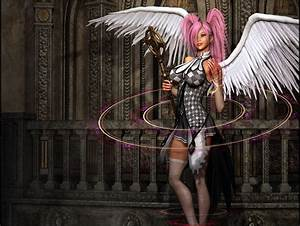 Fantasy angel warrior warrior angel sword armor knight sky ...