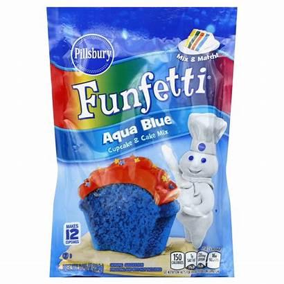 Pillsbury Funfetti Cake Mix Cupcake Aqua Baking