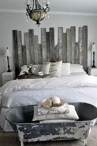Tete De Lit Bois Blanc : t te de lit faire soi m me plusieurs jolies alternatives diy la t te de lit traditionnelle ~ Teatrodelosmanantiales.com Idées de Décoration