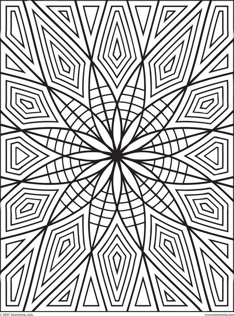 luxurious  splendid  geometric coloring pages