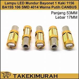 Jual Lampu Led Mundur Bayonet 1 Kaki 1156 Ba15s 106 Smd