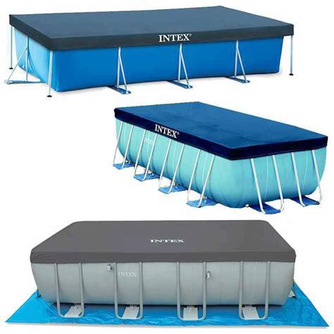 bache pour piscine tubulaire rectangulaire intex 4 50 m